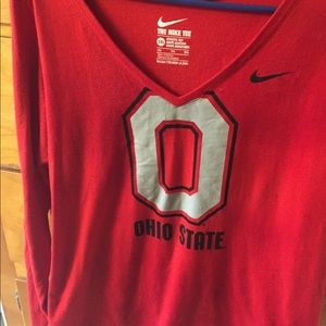 Nike Ohio State Ling Sleeved top. Woman's XXL
